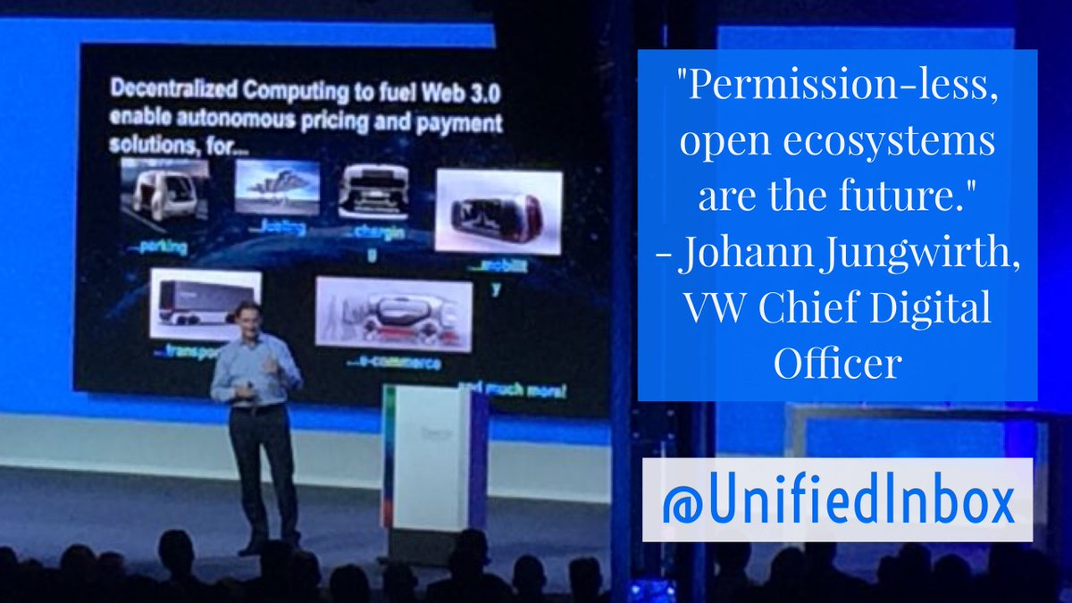 &quot;What follows #selfdriving cars? #SelfPaying cars!&quot; - @VW #ChiefDigitalOfficer @JohannJungwirth closing out #BCW18 today in #Berlin (learn about #Bosch&#39;s #ConnectedMobility strategy at  https://www. bosch.com/explore-and-ex perience/bosch-connected-world-2018/ &nbsp; … ).  #AutonomousVehicles #IoT #AI #BCX18 #eMobility #DLT #IOTA #MaaS <br>http://pic.twitter.com/D7XJ9hDMlO