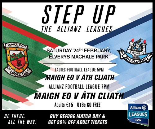 test Twitter Media - Save on queuing & buy your tickets in advance of Saturday night, adults tickets cost €12. U16's go free. Buy today from your local Centra or Supervalu shops. #mayogaa #AllianzLeagues https://t.co/J2E2mdtveJ