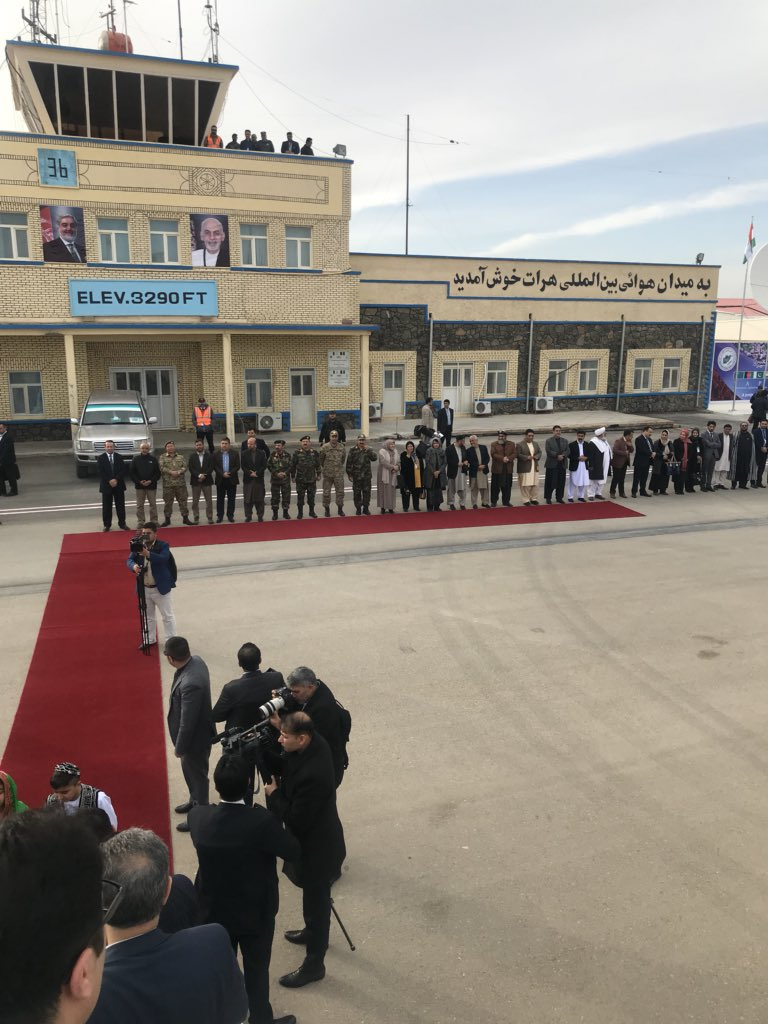 Pleased to be in the ancient city of Herat again. Will inaugurate the arrival of TAPI pipeline. Will also meet with the heads of delegations from Turkmenistan, India and Pakistan during the inauguration.