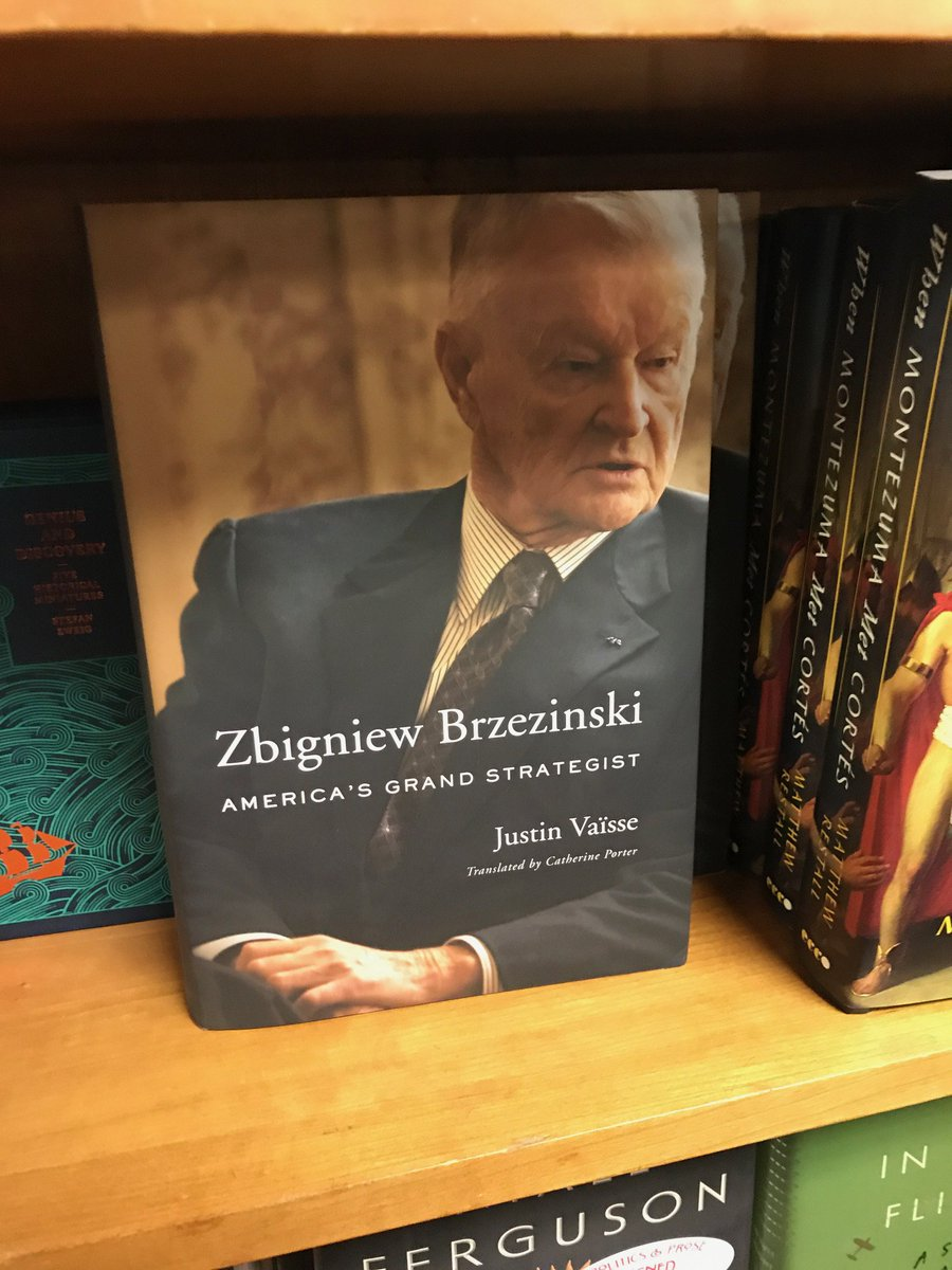 My biography of _Zbigniew Brzezinski, Americas Grand Strategist_, has reached bookstores!   Much more than a life story: a fascinating journey into Americas changing global role from the 1950s to 2017 - and the ideas and men & women that guided it.