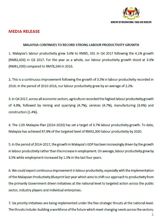 Miti malaysia on twitter media release malaysia continues to miti malaysia on twitter media release malaysia continues to record strong labour productivity growth malvernweather Image collections