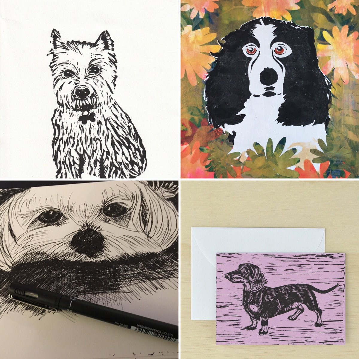 #dogart for #WalkingTheDogDay 💜🐶🐶 handmade original prints and drawings available in my Etsy shop **commisions accepted** etsy.com/uk/shop/Origin… #doglovers #GiftIdeas #MothersDayGift #handmade #OnlineCraft #shopindie #shopsmall #justacard