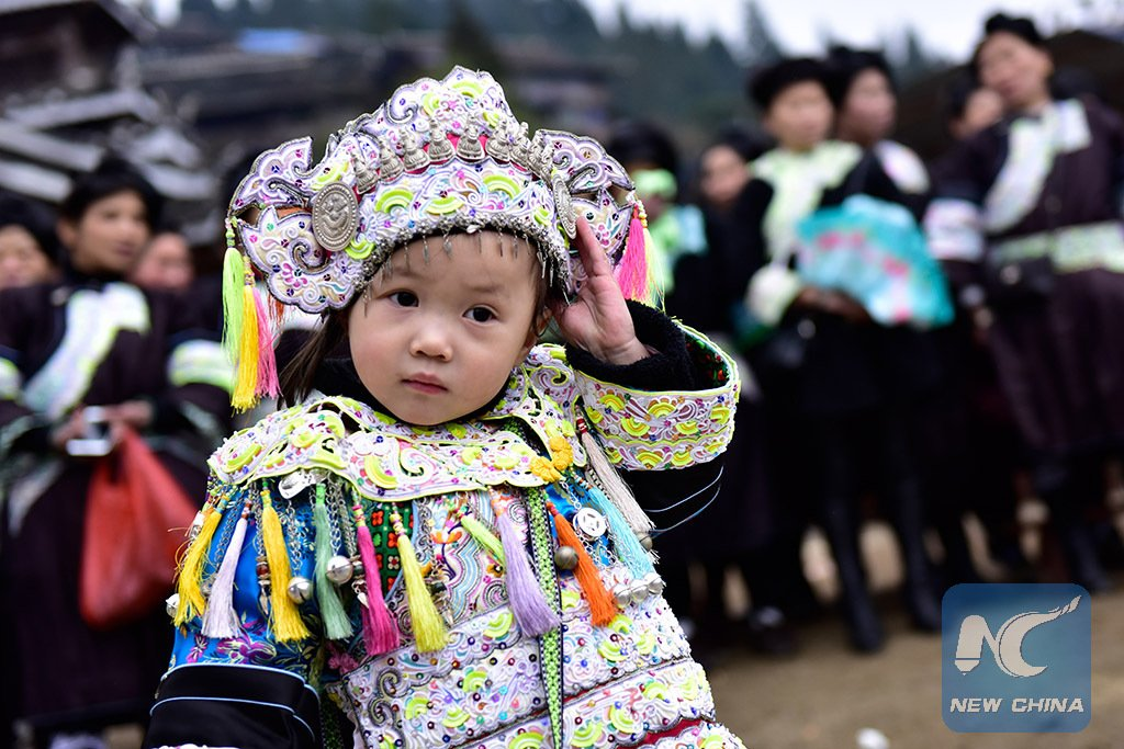 People of Dong ethnic group celebrate #ChineseNewYear at a traditional folk #fair in SW China's Guizhou