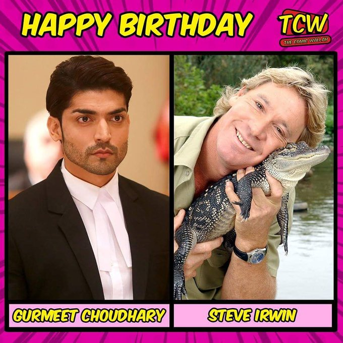 Wishing Gurmeet Choudhary and Steve Irwin a very happy birthday.