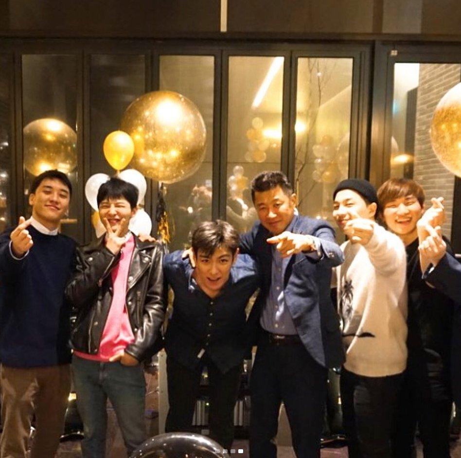 BIGBANG gets together to celebrate G-Dra...