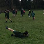 Image for the Tweet beginning: Y4 enjoying Tag Rugby with