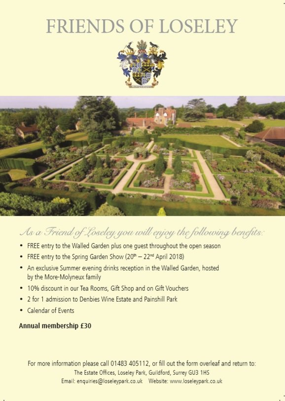 @CharlotteAysh We don't offer discount to local residents as the Show is so keenly priced at £3.00 for adults & children (U16) free. If you visit Loseley regularly you'd like a Friends membership which allows Gardens entry thru the season & free entry to the Spring Show https://t.co/SUWbCTAwGi