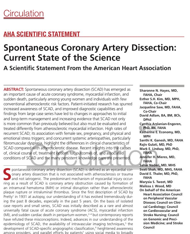 The Current State Of Scientific >> Rafael Vidal On Twitter Spontaneous Coronary Artery Dissection