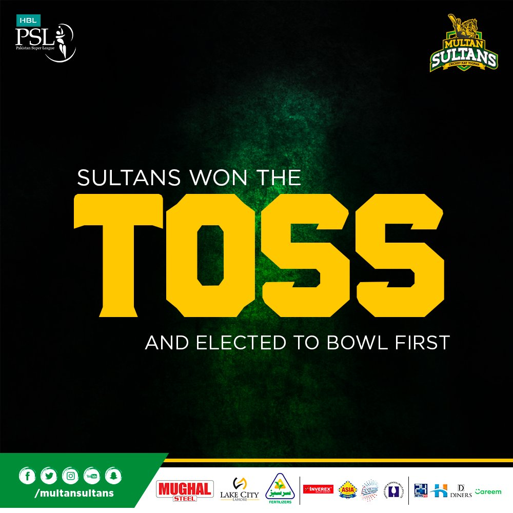 test Twitter Media - TOSS UPDATE! We have won the toss and decided to bowl first!   #PZvMS #SultanSquad https://t.co/pzS67L2jhh