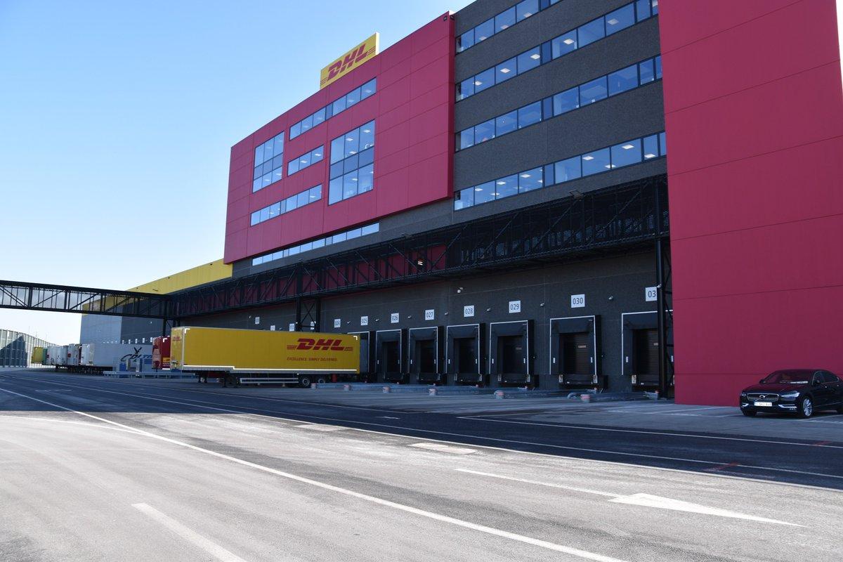 The DHL hub building