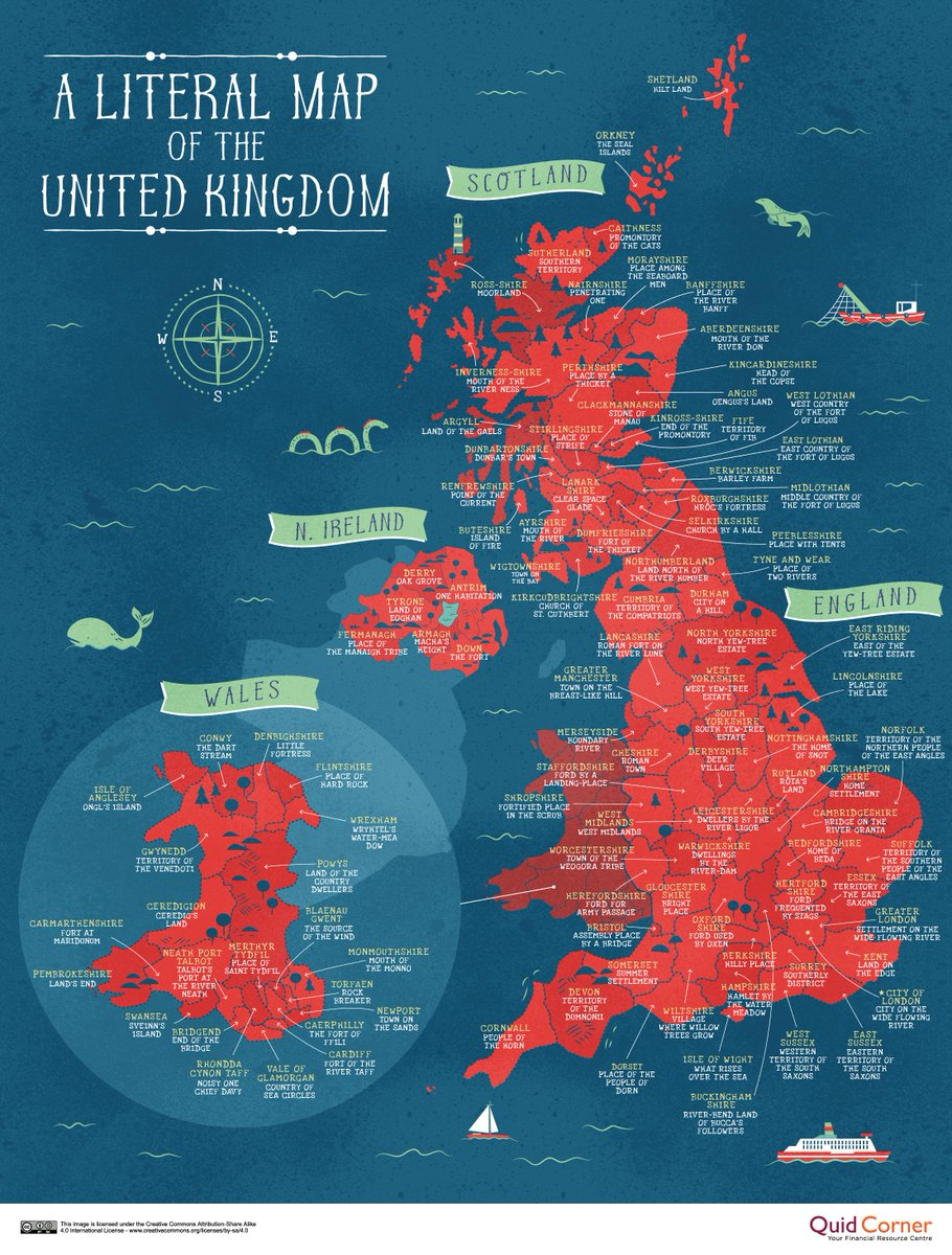 Simon kuestenmacher on twitter fun map of uk shows literal take this map with a grain of salt its a fun exercise not a phd thesis gumiabroncs Choice Image
