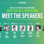 Be prepared for May 25 and join publishers from across the UK attending @Captify's GDPR event. Tickets are going fast so secure your space today! https://t.co/1Rr5PwxVq4
