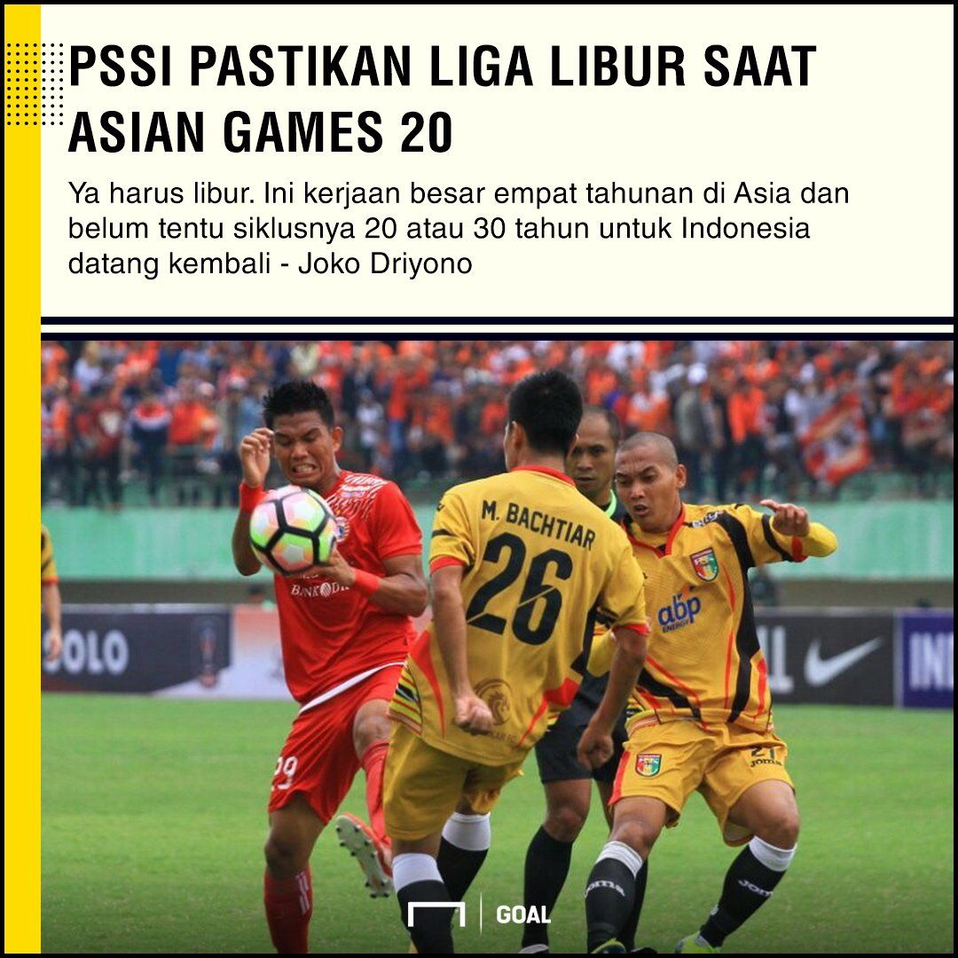 PSSI Pastikan Liga Libur Saat Asian Games 2018 https://t.co/uS0f1Qlglh https://t.co/9kqncDWLzk