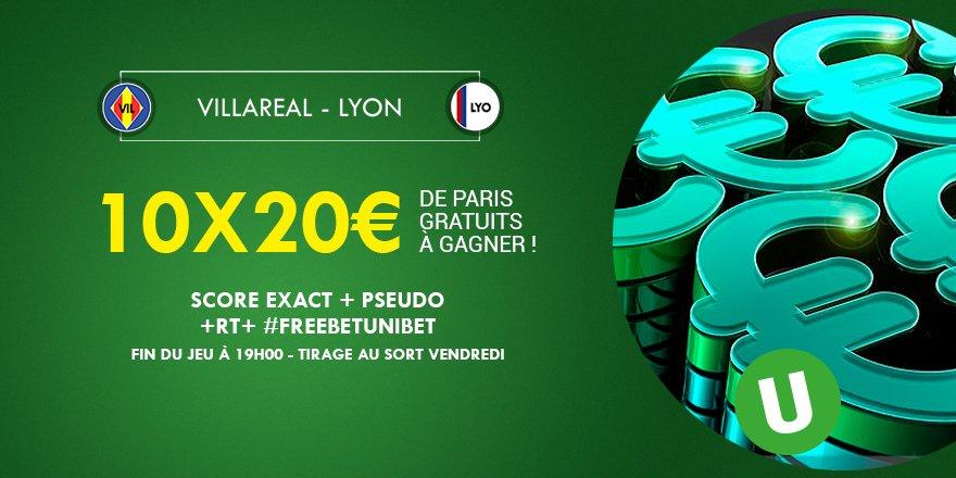⚽️💰 Quel sera le score exact de #VILOL ? 10x20€ de #FreeBetUnibet à gagner ! #TeamParieur