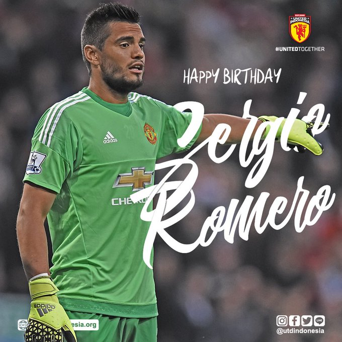 Happy birthday untuk kiper Sergio Romero! Have a great day!