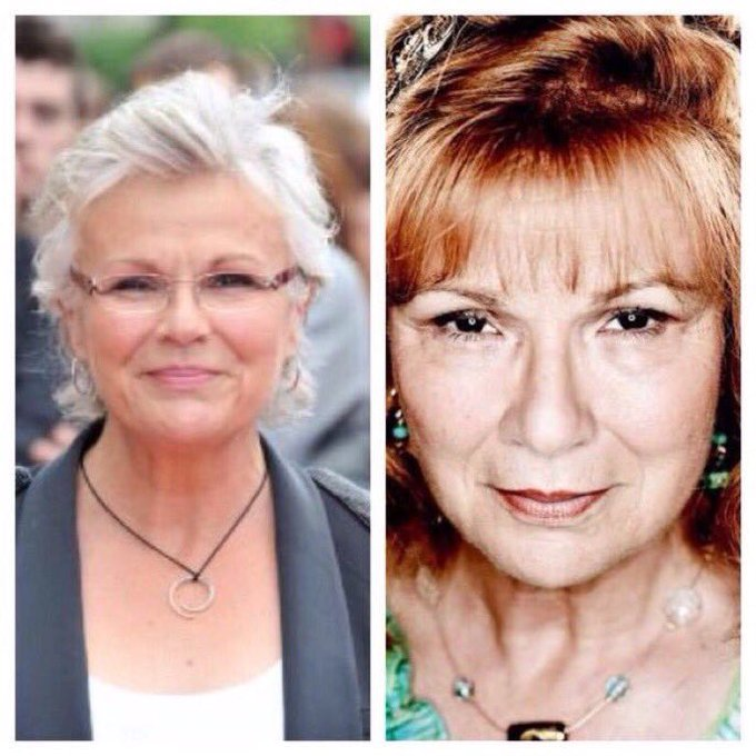 February 22: Happy Birthday, Julie Walters! She played Molly Weasley in the films.