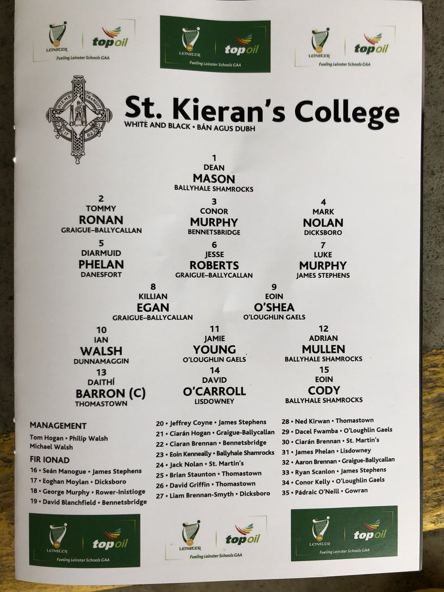 test Twitter Media - RT @KieransCollege: All set for @TopOil @gaaleinster Final   10 mins to throw in https://t.co/YUHYWeykbj