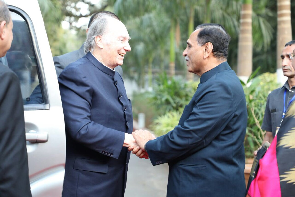Aga Khan in Gujarat meets Chief Minister