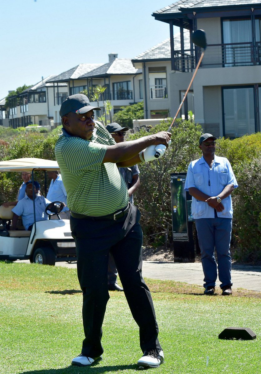 South African Government On Twitter Photos President Cyril Ramaphosa Teeing Off At The Atlantic Beach Golf Club During The Presidentialgolfchallenge Tournament In Cape Town Https T Co U4hc9es4cp Https T Co Yttq1fq8da