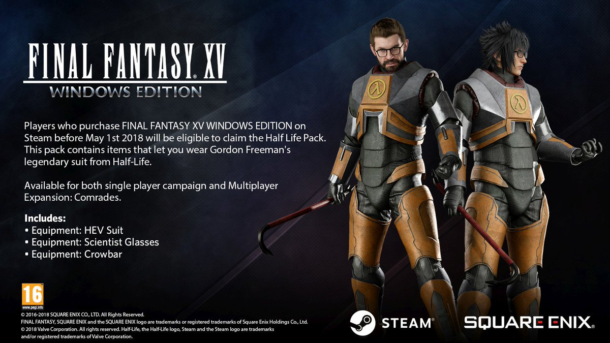 final fantasy xv on twitter a free playable demo for ffxv windows