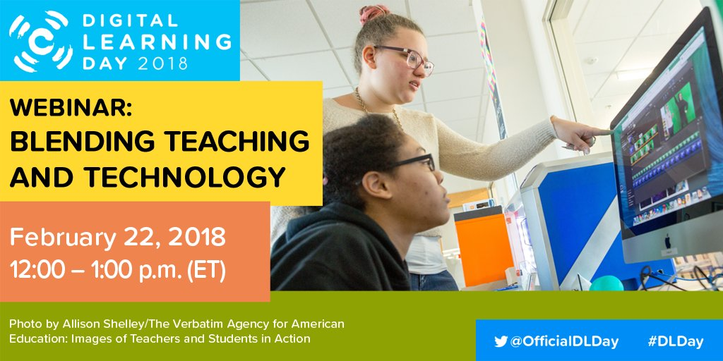 #DLDay webinar today at 12pm ET! Learn how innovative districts blend teaching with technology. Watch here: all4ed.org/webinar-event/… #DLDayWebinar