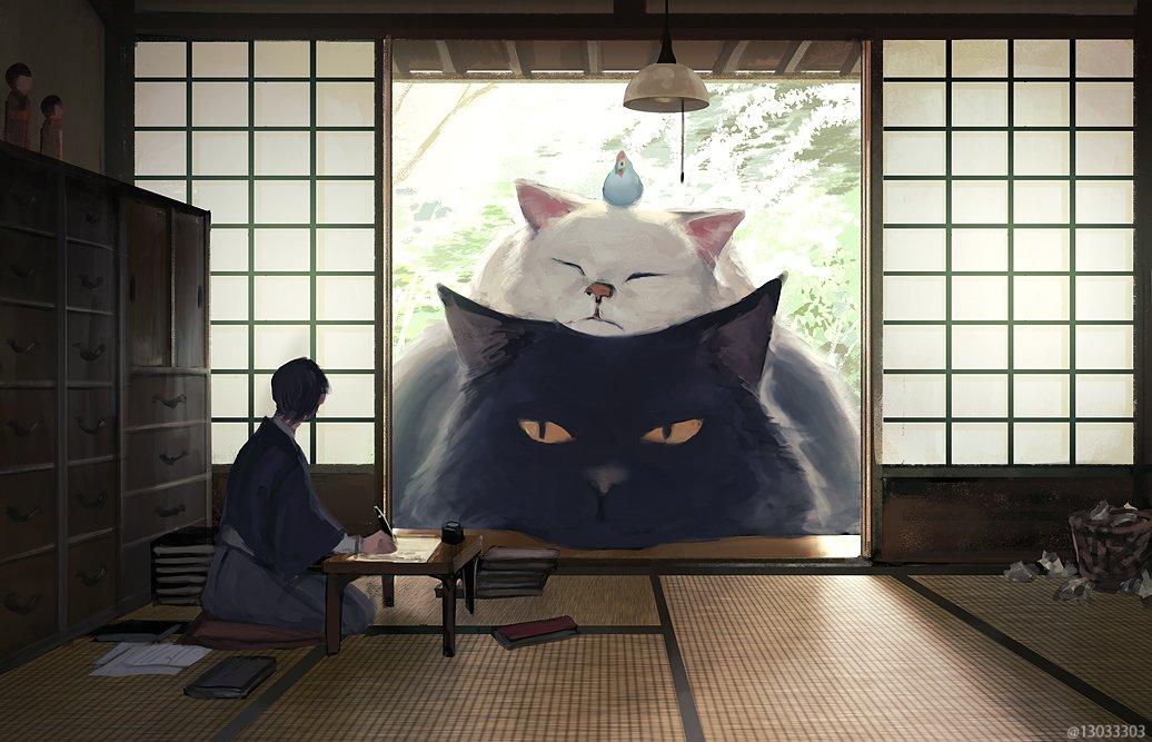 作業がはかどらない人のところに現れてとりあえず貸し出してくれる生き物 #猫の日