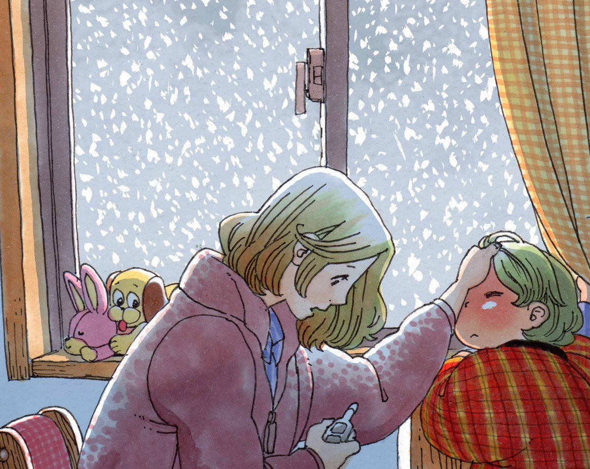 夜のお宣伝、本日発売の週刊漫画ゴラクに「しいちゃん、あのね」48回目雪のお話載っております。2巻発売にあわせて巻頭カラー頂きました。単行本には白黒で収録されると思うので、本誌で読んで貰えると嬉しやです。