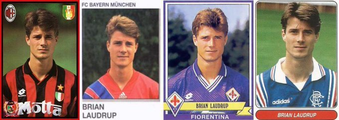 Remessageed Old School Panini ( Happy Birthday to Brian LAUDRUP