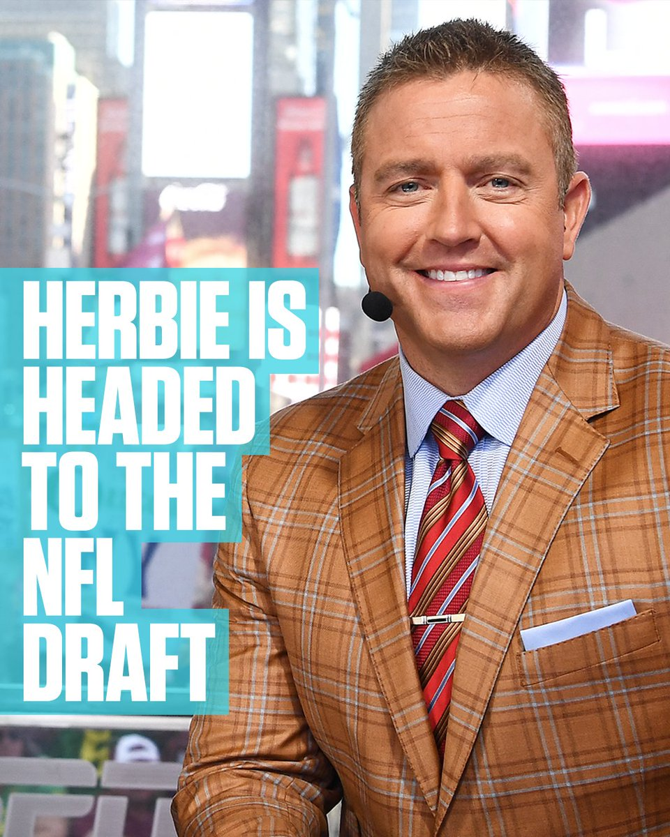 For the first time, @KirkHerbstreit is joining our NFL Draft coverage.   See ya in Dallas, Herbie!