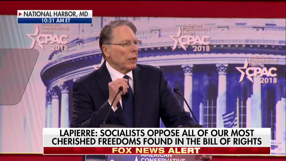 .@NRA's Wayne LaPierre: 'If these so-called new European socialists take over the House and the Senate and God forbid they get the @WhiteHouse again, our American freedoms could be lost and our country will be changed forever - and the first to go will be the Second Amendment.'