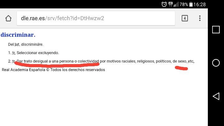 @padoma13 @Sergio_Diaz11 @pardodevera La definición de la RAE de discriminación. Por si le quieres echar un ojo. https://t.co/rkHANni1H1