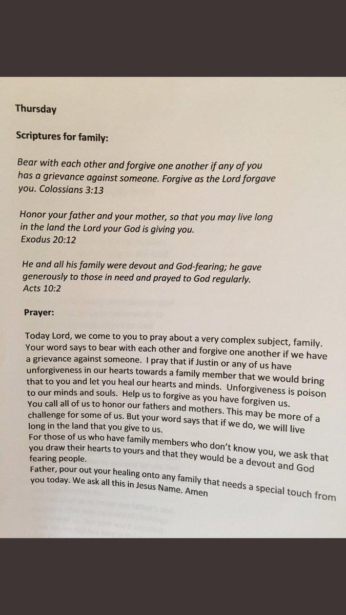 Thursday - Prayer for FAMILY  #praying4j...
