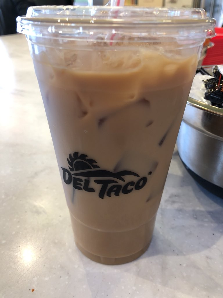 @DelTaco Iced Coffee on point this morning! #coffee #breakfast #MorningJoe https://t.co/8xvKgzHtdE
