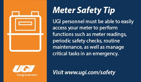 test Twitter Media - UGI personnel must be able to easily access your meter to ensure the safe and reliable delivery of natural gas. To learn more about meter safety, visit: https://t.co/KuxYOxlMG5 https://t.co/ogT6KJ8Pnw
