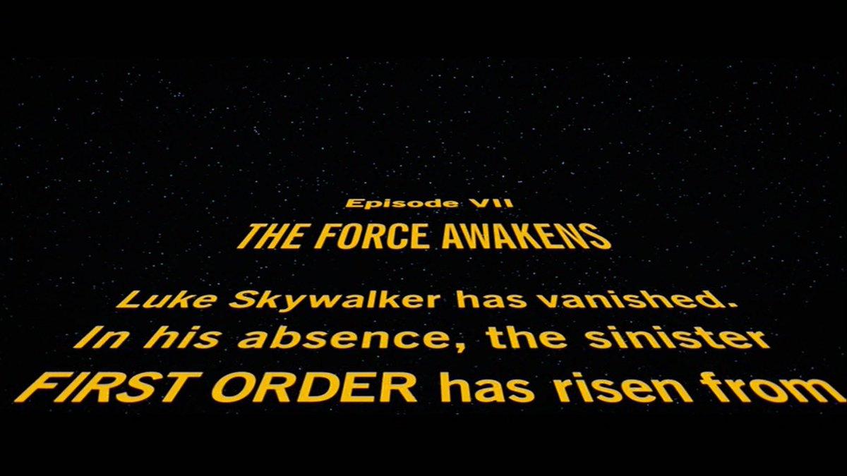@five1996 つまり、STAR WARSなら席が後退してると (´・ω・`)💡