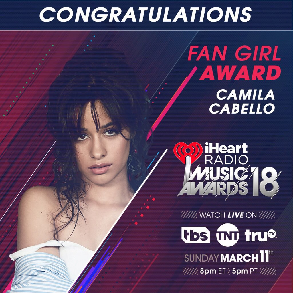 omg !! thank you @iHeartRadio for the fan girl award!!! see u guys at the #iHeartAwards iheartawards 🌹    tickets available now ⚡️https://t.co/fFgKCp8bRy