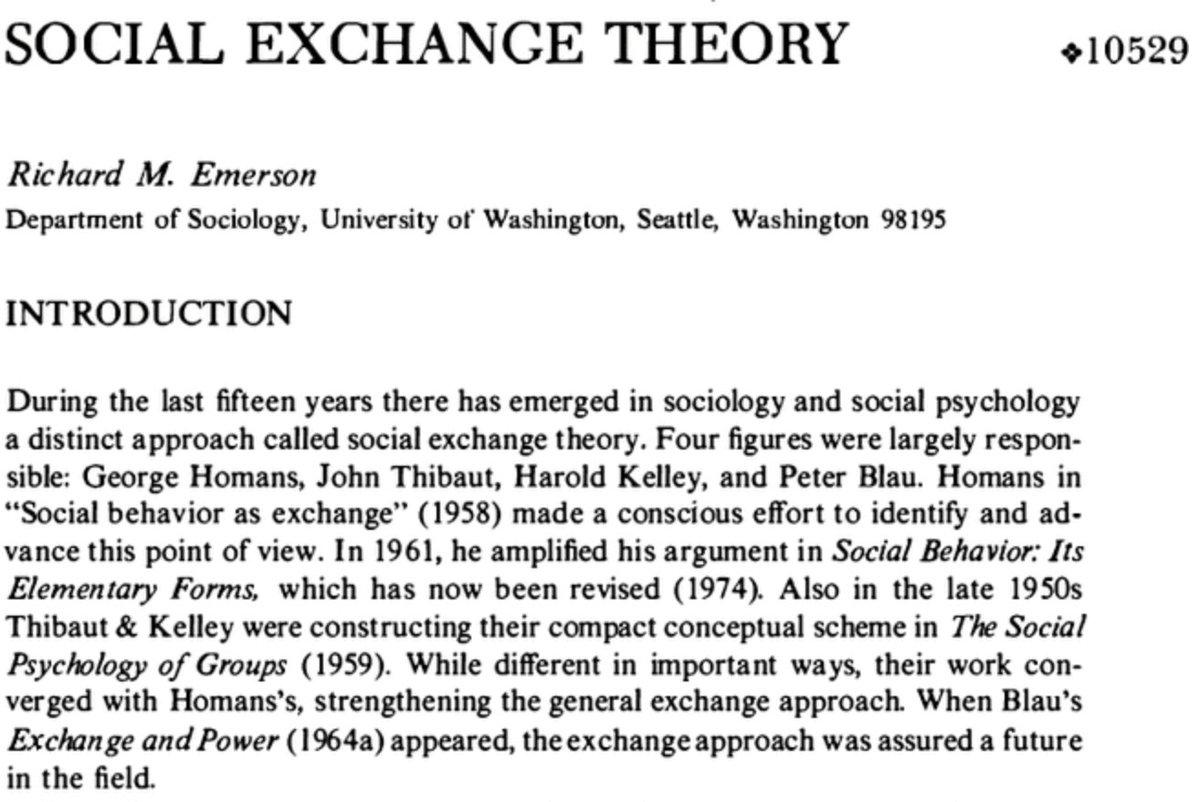 richard emerson sociology