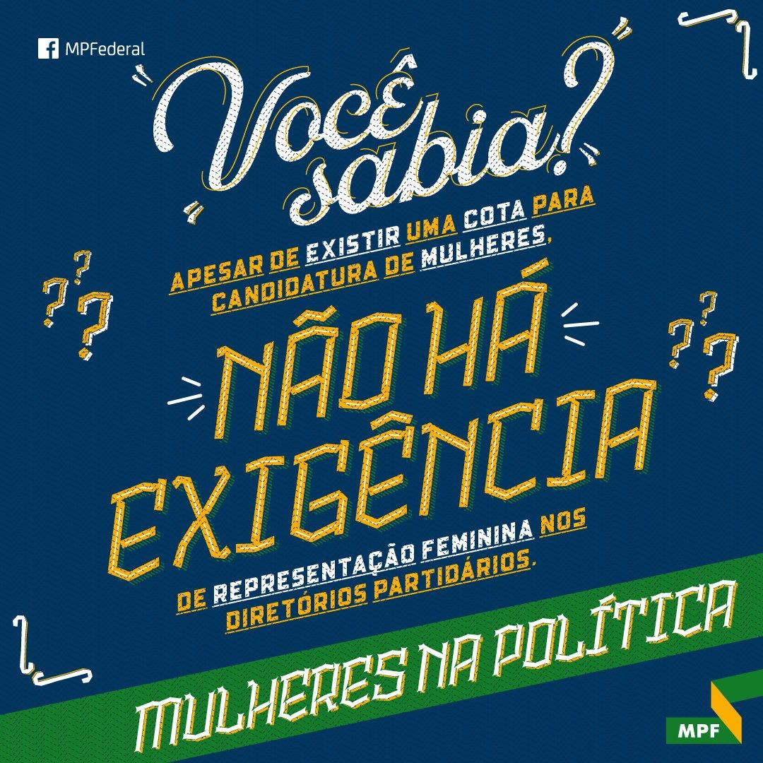 Resultado de imagem para #MulheresNaPolítica: MPF defende adoção de cotas femininas para diretórios de partidos políticos