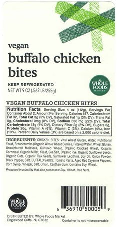 Tree Nut Allergy Alert: @WholeFoods is voluntarily recalling mislabeled Vegan Buffalo Chicken Bites sold at 13 Whole Foods Market stores in NY and NJ because the products contained tree nut (pecan) allergens that were not listed on the product label. https://t.co/48LTS79bZB