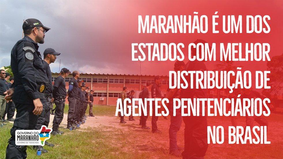 O Maranhão é um dos oito Estados brasileiros que têm número adequado de agentes penitenciários, de acordo com levantamento do portal G1, do Grupo Globo. O G1 diz que o Maranhão tem uma proporção de um agente para quatro presos. https://t.co/wGqoyl4mbJ  #GovernoDeTodosNós
