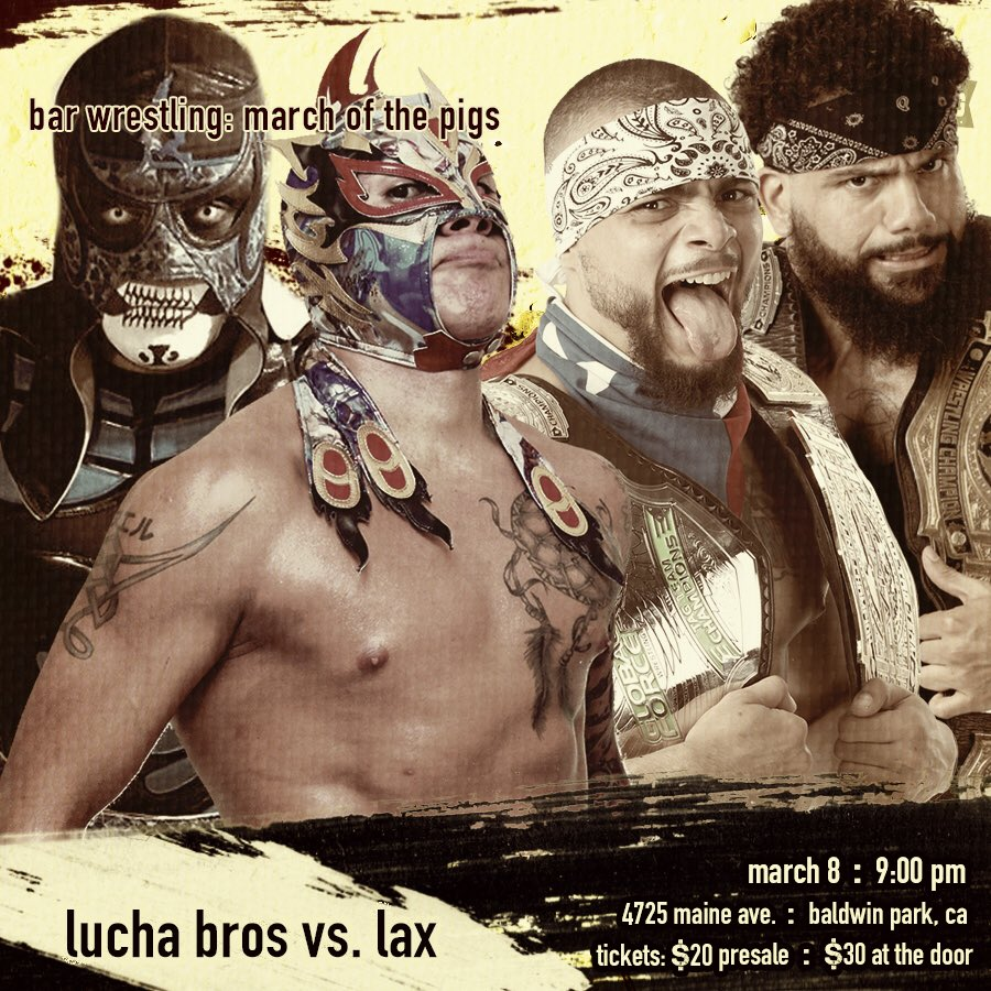 Image result for Bar Wrestling Lucha Brothers