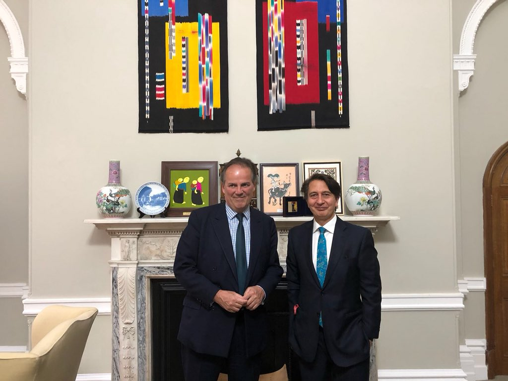 Great to see my friend @foreignoffice Minister @MarkFieldUK to discuss bilateral security issues, the Kabul Process II, the four pillars of the soon-to-be released Afghan peace plan, preparation for elections, regional initiatives and the upcoming Tashkent Conference.