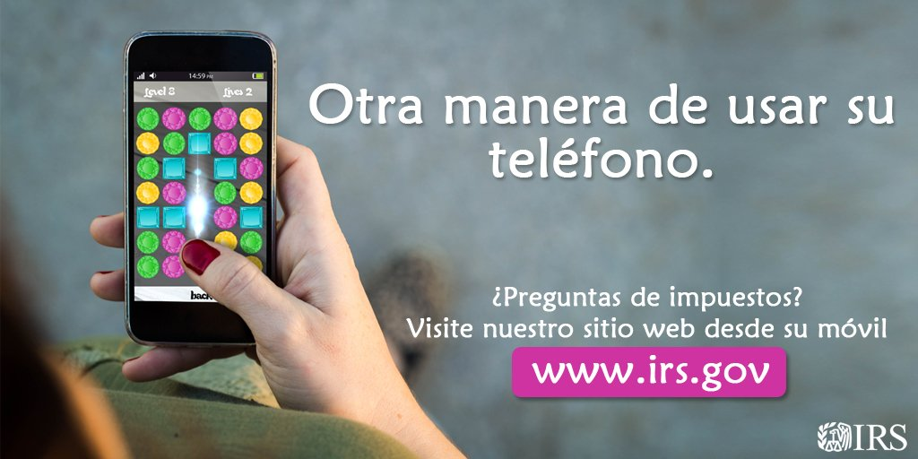 #IRS: Haga de https://t.co/XO8f5O8Jzg el...