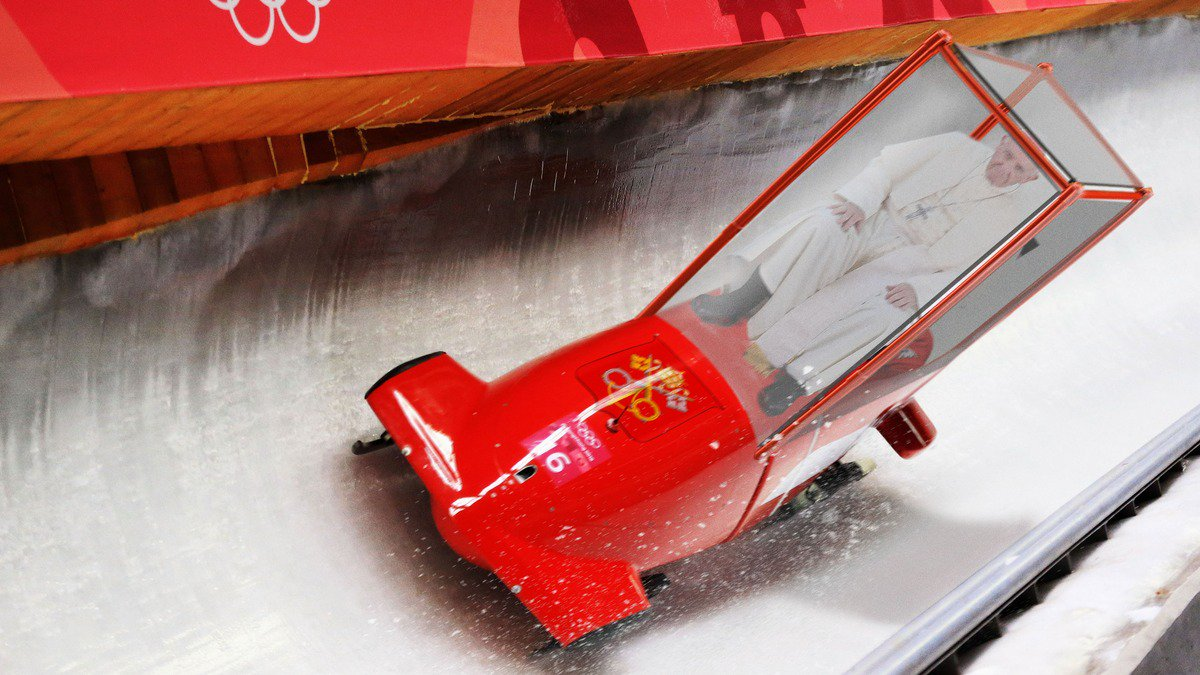 Amazing: The Papal Bobsled Team Just Took Home Bronze For Vatican City https://t.co/xz24kpq4qY