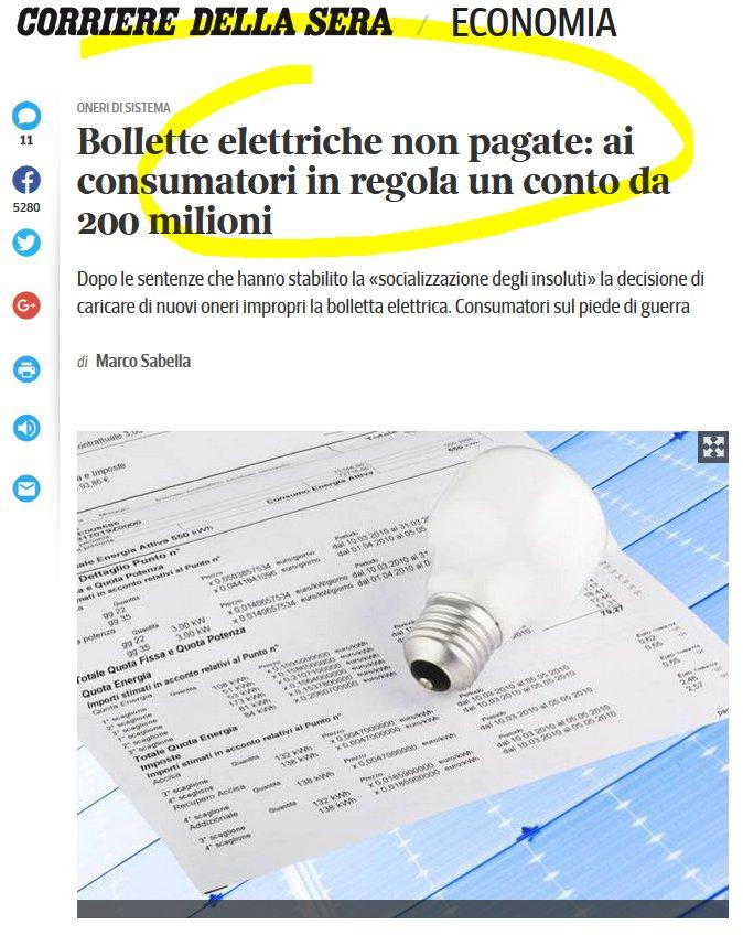 Gli italiani perbene devono pagare le bollette dei furbi che non pagano?!? ROBA DA MATTI!!! https://t.co/FRutPhDG4d