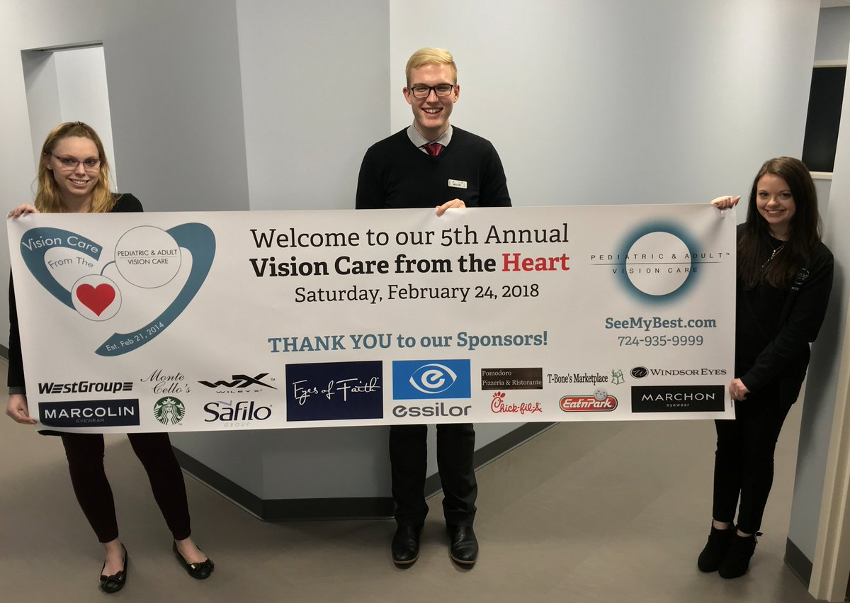 Our Vision Care from the Heart banner came in today! We are so passionate about serving &amp; we are grateful our sponsors share our passion because we could not host such an impactful event without you!  THANK YOU to our 2018 Sponsors! #pittsburgh #pgh #wexford #charity #eyeexams <br>http://pic.twitter.com/5TugORfTr8