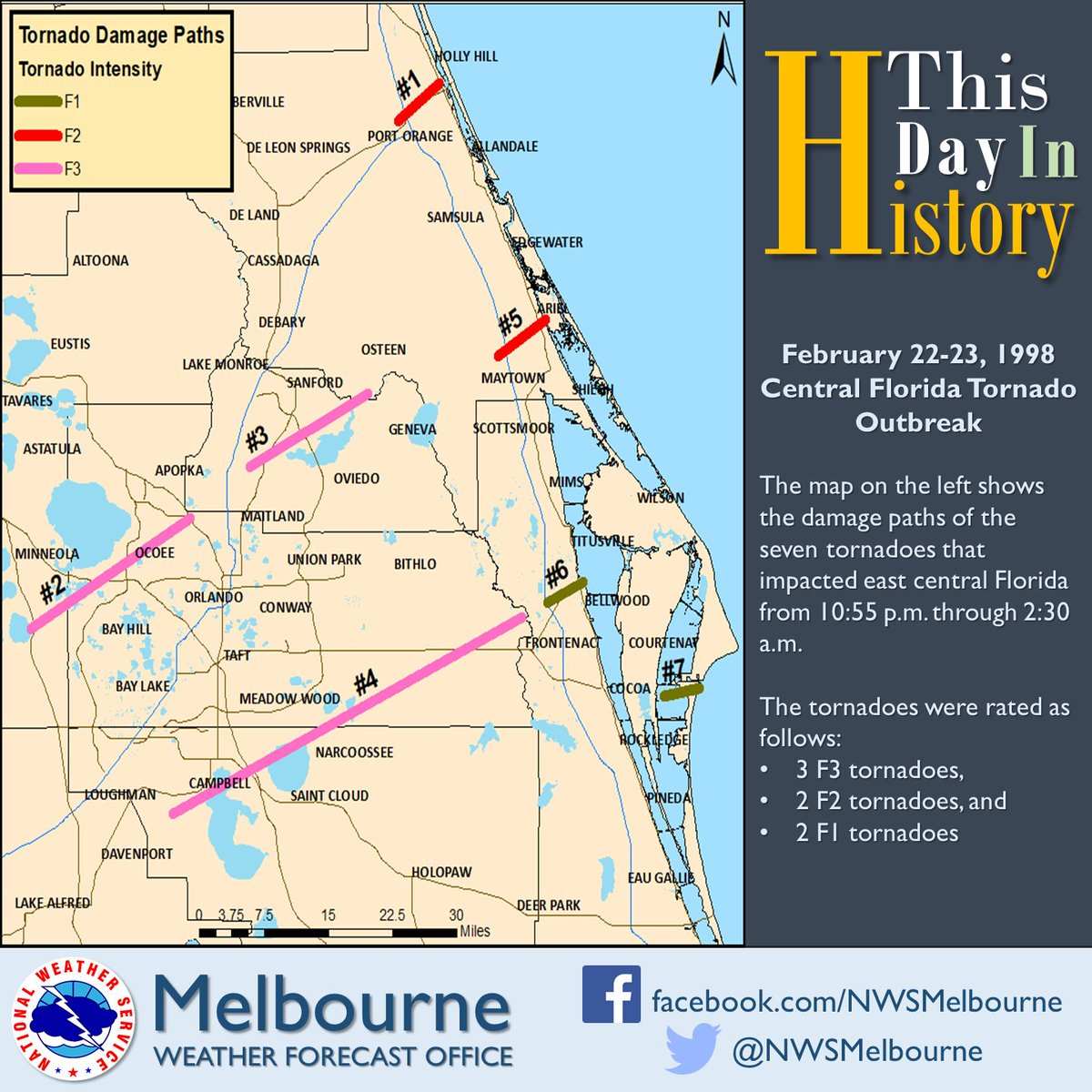Map Of Melbourne Florida.Nws Melbourne On Twitter This Map Shows The Approximate Damage