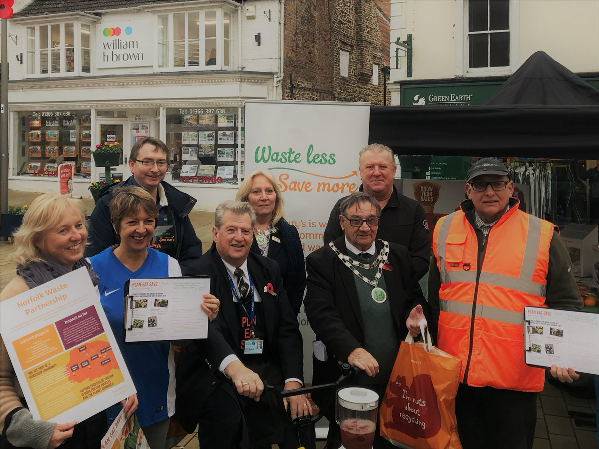 Another reason to #lovewestnorfolk, the recycling event on the Town Square with @recycle4norfolk and @PlanEatSave last year was really well attended. Great to see the people of Downham Market supporting waste reduction. Reduce-Reuse-Recycle.