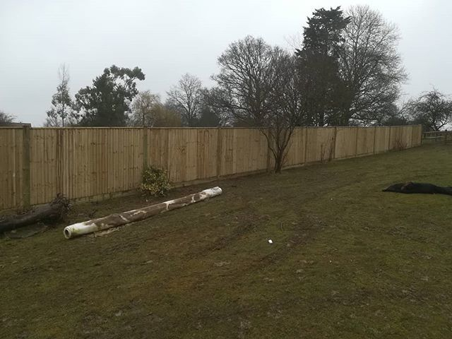 60m of closeboard completed.