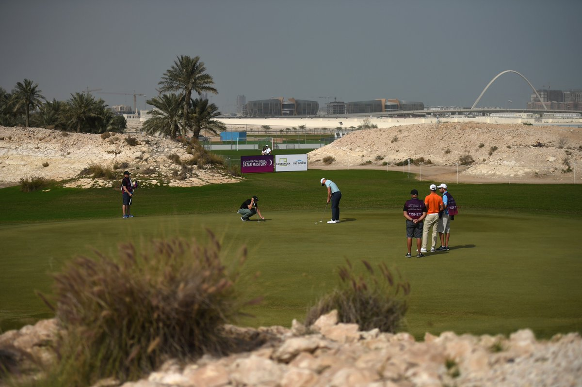 Today at Doha GC:  Par 4 16th average: 3.37 😀 Par 3 3rd average: 3.33 😯